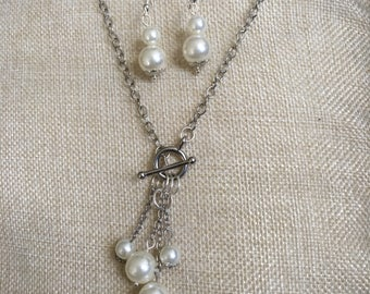Toggle Clasp Necklace and Earring Set