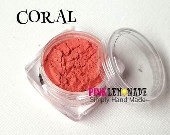 Eyeshadow - Eye Shadow - Coral - Mica - Loose Powder - Shimmer - Natural Makeup - Make-up - Pretty Minerals - Mineral Shadow