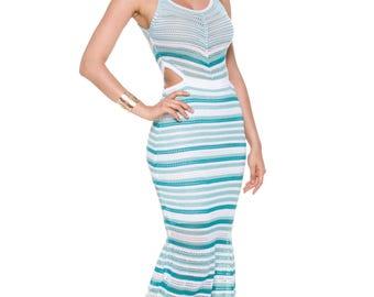 BaciamiBaby Camila Green Dress,summer dress,Party dress,Casual beach dress,knitting Dress,longdress,Celebrity beachwear,Casual Dress,Fashion
