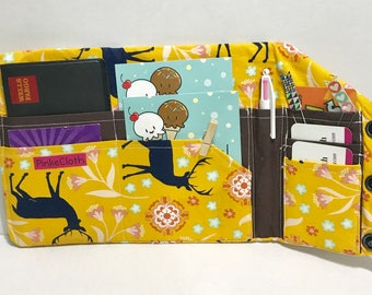 Deer travelers notebook wallet, Bill Organizer, passport holder
