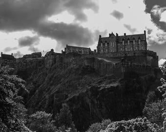 Gloomy Edinburgh Castle, Scotland Scottish Castle Highland Photos Photography Prints