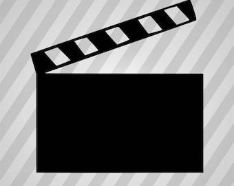 Movie Clapper Silhouette Movie Clipboard - Svg Dxf Eps Silhouette Rld Pdf Png AI Files Digital Cut Vector File Svg File Cricut Laser Cut