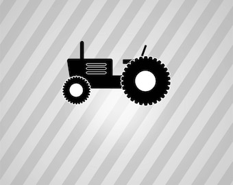 Tractor Silhouette -  Svg Dxf Eps Rld Rdworks Pdf Png Ai Files Digital Cut Vector File Svg File Cricut Laser Cut