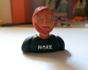 Ed Sheeran Polymer Clay Miniature Doll