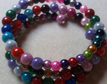 beaded bracelet multi colour beads