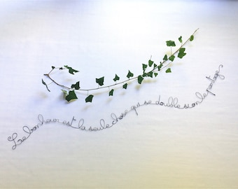 Writing wire, wire, wire, wall quote sentence wire