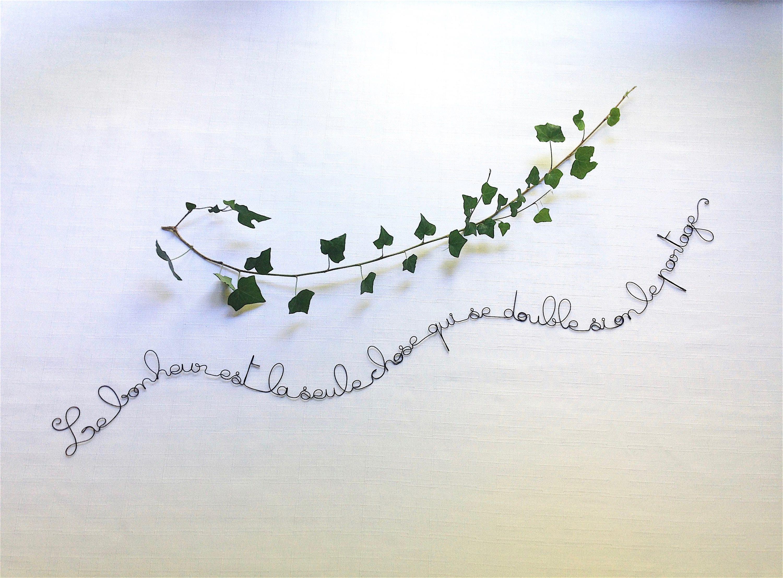 Ecriture fil de fer phrase fil de fer citation fil de fer - Phrase en fil de fer ...