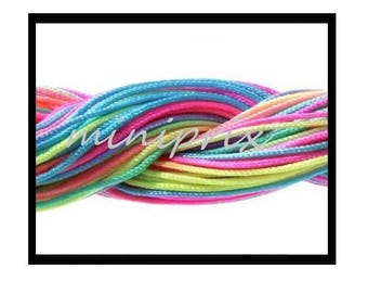 X 7.50 meters of nylon, macrame, shamballa multicolor thread.