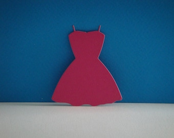 Cutout dress fuchsia for scrapbooking and card