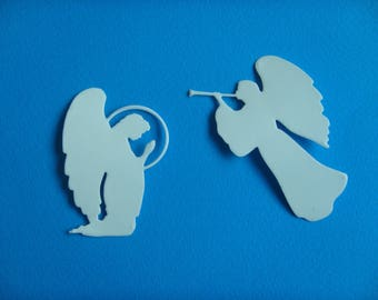 I glows in the dark sticker set of 2 Angels out of sticker paper for creation