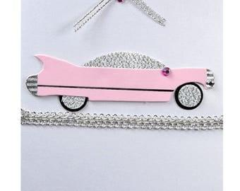 Pink convertible honey Moon card