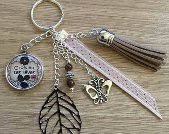 "door keys/jewelry bag""believe in your dreams"""