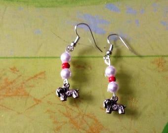 Yorkshire dog pierced earrings