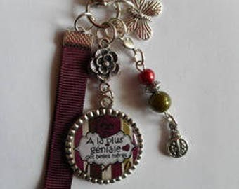 """Bag charm, door keys/beautiful mother / """"Has the most amazing beautiful mothers day"""" / gift/thank you/party/birthday/Christmas"""