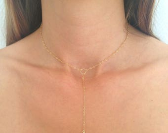 Charm necklace LIPARI, point plated gold