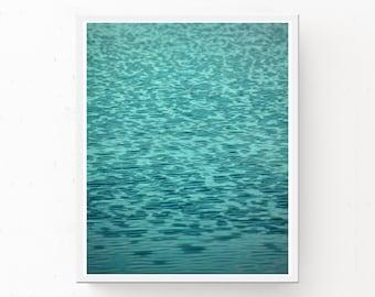 WATER PHOTOGRAPH, Water Print, Digital Download, Jade Decor, Water Poster, Ripples, Jade Wall Art, Abstract Wall Art, Water Photography