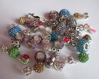 set of 38 beautiful pandora style beads