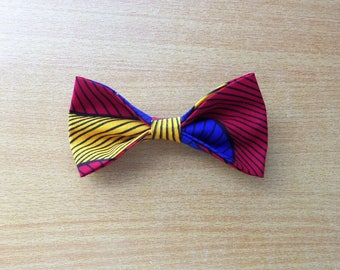 Bow number 6 for hair or collar blouse made of wax (Ankara)