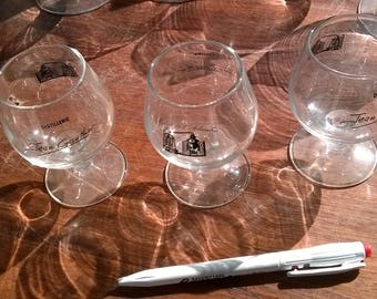 501) set of 4 brandy glasses