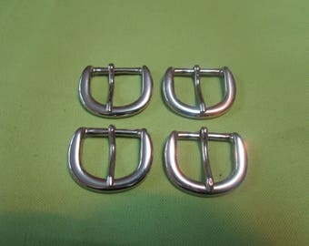fine silver nickelee metal buckle