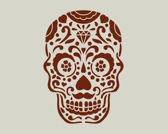 Mexican head stencil. Mexican skull (ref 543)