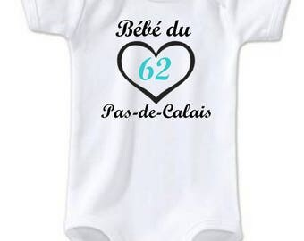 "Funny baby Bodysuit of the steps of ""Calais"""
