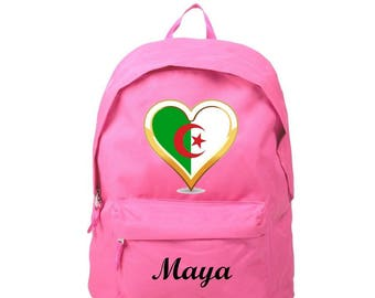Backpack pink Algeria personalized with name