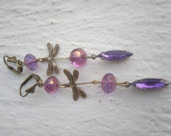 Majestic dragonflies in shades of amethyst
