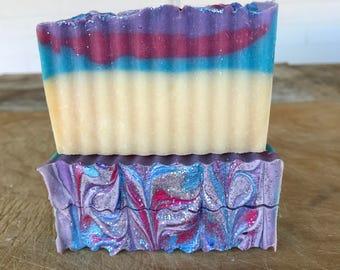 Unicorn Kisses Soap / Cold Process Soap / Handmade Soap / Natural Soap / Bar Soap / Vegan Soap