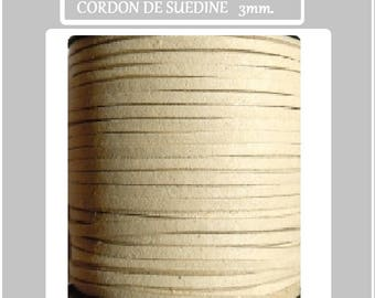 Suede cord 3mm flat