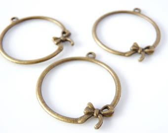 20 charms node 22 x 18 mm - color bronze