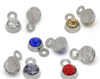 Multicolor rhinestone - P23 50 pendants