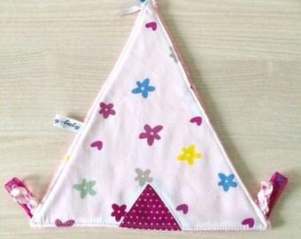 Indian teepee baby blanket