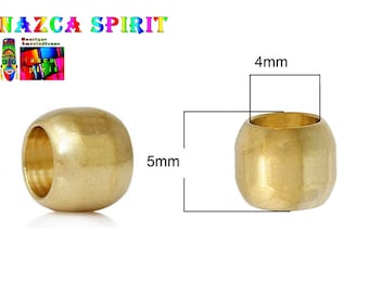 20 beads trendy shape Olive in copper gold 6 mm x 5 mm - large hole to hole: 4 mm ∅