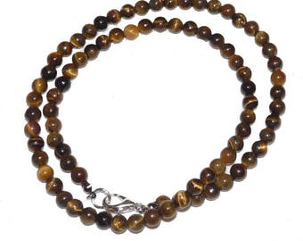 Semi precious Brown unique jewelry Tiger Eye necklace father's mens shop BlueLife creations Etsy