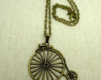 1 bicycle CHN 0012 charm bronze textured cable chain