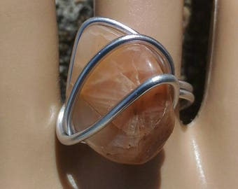 Orange T 56-57 Moonstone ring