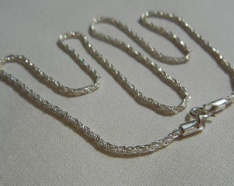 Sterling Silver 925 mesh interwoven and twisted chain