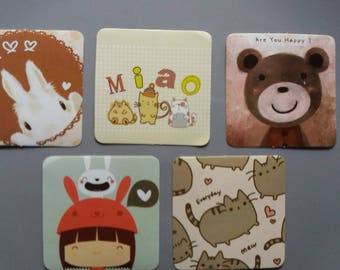 Set of 5 cute stickers