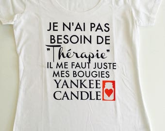 T shirt personalized yankee candle flocking