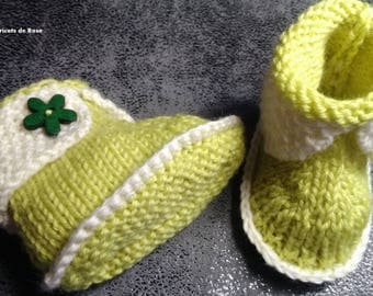 Baby booties, boots shape