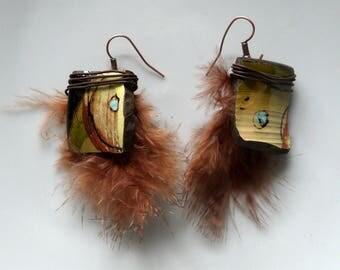 """Earrings boho Chic earrings, ethnic earrings, """"Kihuani"""", gift idea"""