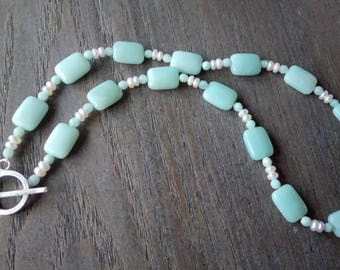Opalite and Balinese Pearl necklace