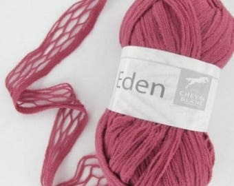 Wool knitting fancy EDEN hydrangea No. 300 white horse