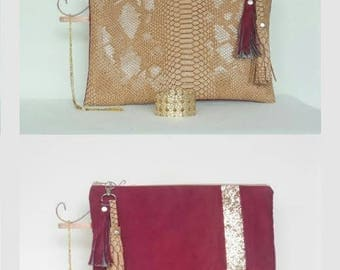 Large pouch Bi bi material and color