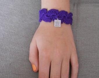 Bracelet crochet for mother's day