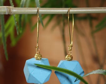 Icosahedron earring