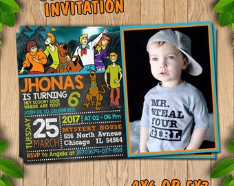 Scooby Doo party supplies, Scooby Doo birthday, Scooby Doo invite, Scooby Doo invitation, Scooby Doo printable, Scooby Doo birthday party