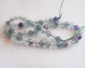 50 8 mm round genuine fuorite gemstone beads
