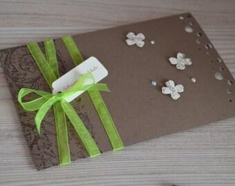 "Wedding invitation ""Any"" choco""10: chocolate and ivory"